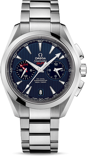 SEAMASTER AQUA TERRA 150 M OMEGA CO-AXIAL CHRONOGRAPH GMT 43 MM